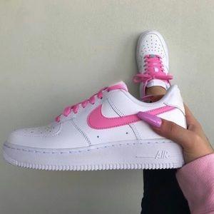 Custom pink nike Air Force 1